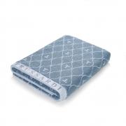 Super Toalha De Rosto 48x90cm - Speciale Azul - Azzuro - Monograma Trussardi