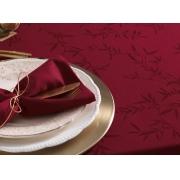 Toalha de mesa 8 lugares retangular verissimo vermelha - 1,60 x 2,70m - celebration - karsten