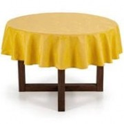 Toalha de mesa amarela redonda 6 lugares 1,78 karsten
