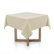 Toalha de mesa Quadrada 140x140 Arbela Natural Karsten