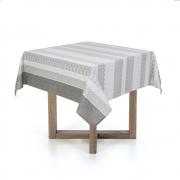 Toalha de mesa Quadrada 140X140 Dalmeni Cinza Karsten