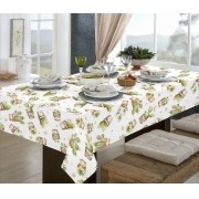 Toalha de mesa quadrada 1,40x1,40m  limpa fácil cactos - Pratic raner
