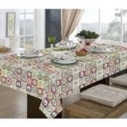 Toalha de mesa quadrada 4 lugares 1,40x1,40m - pratic limpa fácil  utensílios - raner