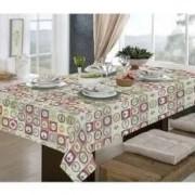 Toalha de mesa quadrada para 4 cadeiras 1,40x1,40 - pratic limpa fácil  utensílios - raner