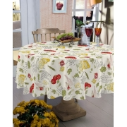 Toalha de mesa redonda 1,40 de diâmetro - pratic limpa fácil  temperos - raner