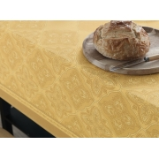 Toalha de Mesa Redonda 4 luagres Sempre Limpa Amarela Ornate Karsten