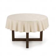 Toalha de mesa Redonda 1,78 Bege Natural Mendi Karsten