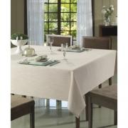 Toalha de mesa Redonda 2 metros Limpa fácil Clean Passion Bege Dohler
