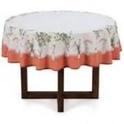 Toalha de mesa redonda eucalipto dia a dia 1,60 de diâmetro - 4 lugares - karsten