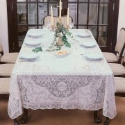 Toalha de Mesa Renda Branca 10 Lugares Retangular Dinner 155x300 cm - Lepper