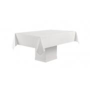 Toalha de mesa retangular 12 lugares Branca Faenza 160x320 Sempre Limpa Karsten