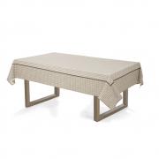 Toalha de mesa Retangular 140x210 Crivos Bege Karsten