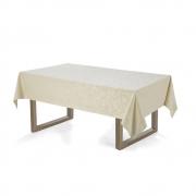 Toalha de mesa Retangular 140x250 Arbela Natural Karsten