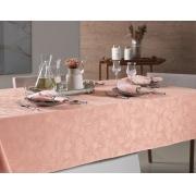 Toalha de mesa Retangular 140x250 Arbela Rosé Pétala Karsten