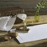 Piso tapete para banheiro atoalhado Juliet – bege - Karsten
