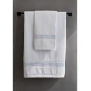 Toalha de Rosto 50x80cm Grand Branco/Cinza - ByTheBed