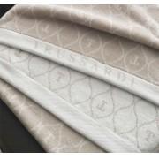 Toalha de rosto monograma Speciale Nocciola - Trussardi