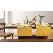 Trilho de Mesa Jacquard Sempre Limpa 50 x 170cm – Amarelo Calêndula – Karsten