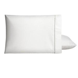 2 Fronhas Brancas Ponto palito Percal 50x70cm - Casa Paloma