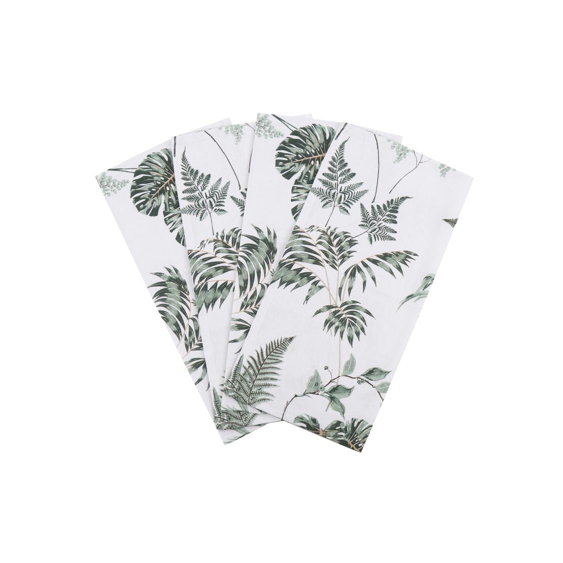 4 Guardanapos de Tecido 45x45 folhagem verde musgo Naturalle