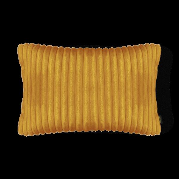 Almofada Canelada em Soft Retangular 28x48cm Amarelo Mostarda Belchior