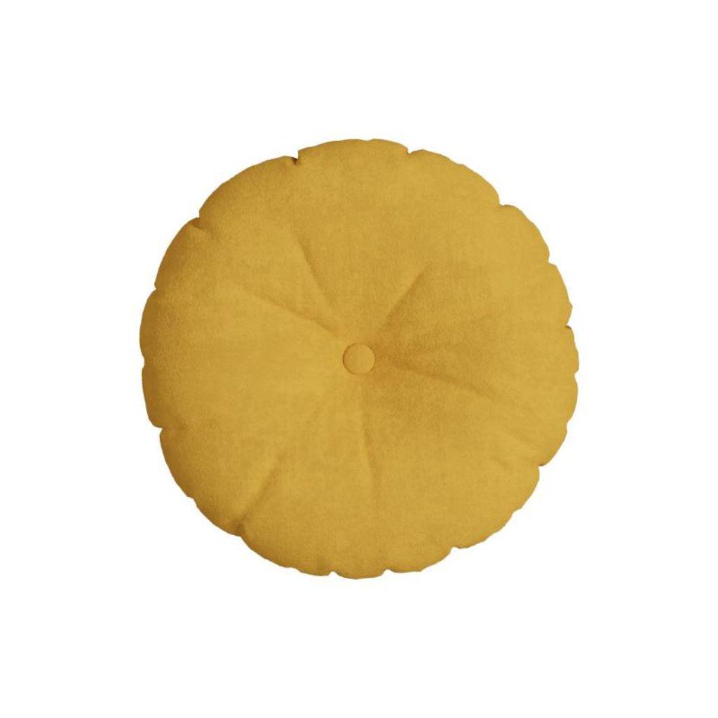 Almofada Redonda Veludo | Belchior - Luxor Amarelo