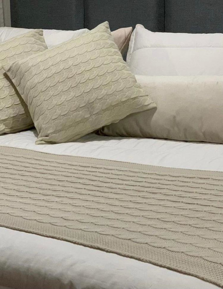 Almofada Tricot Clássico Bege 40x40 Paloma Home