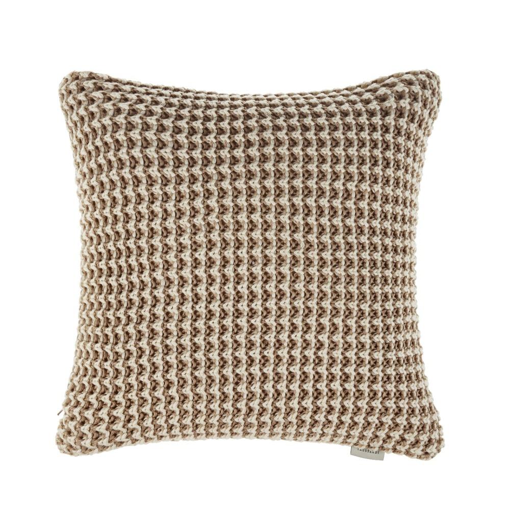 Almofada Trussardi Tricot 40x40 100% algodão Neutra Campese