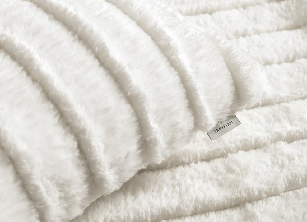 Almofada Vellutato Branco Natural 45X45 - Trussardi