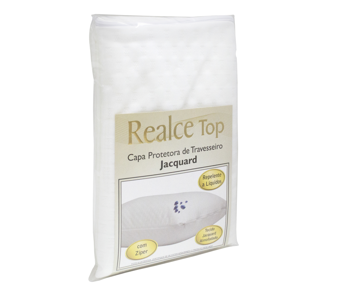 Capa Protetora de Travesseiro Jaquard Premium Branco Addiguard