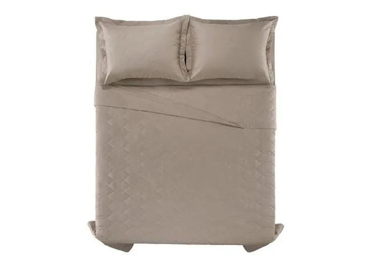 Cobre leito casal algodão liss taupe - karsten