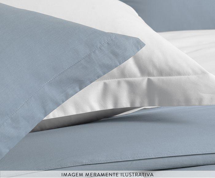 Cobre leito Casal azul 100% algodão Liss Allure - karsten