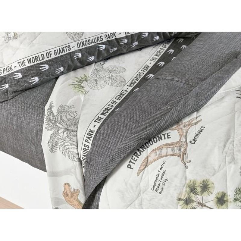 Cobre Leito Casal Dinossauro 100% algodão - karsten