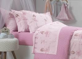 Cobre Leito Infantil Casal Bailarina tons de rosa dupla face 180 fios extra macio - Karsten