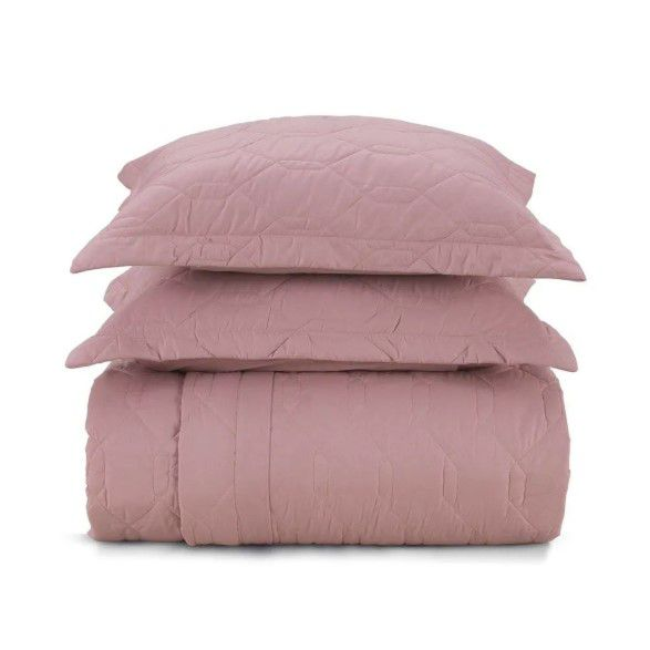Cobre leito king Size algodão liss rosa - Karsten