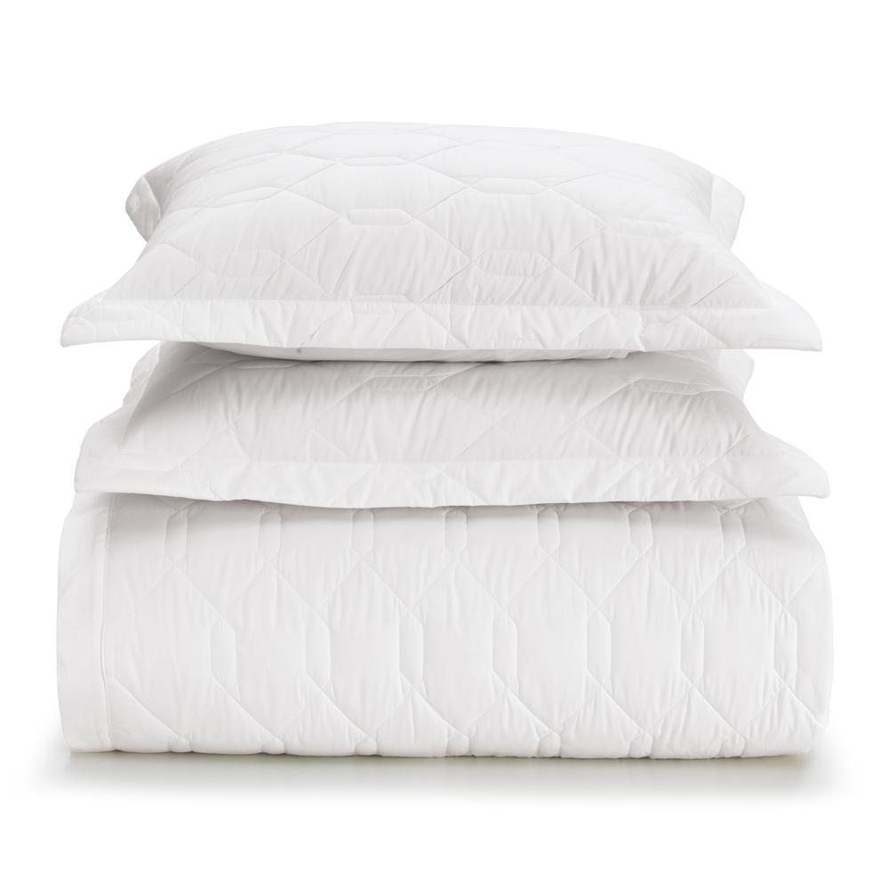 Cobre leito solteiro algodão 2 peças liss branco - Karsten