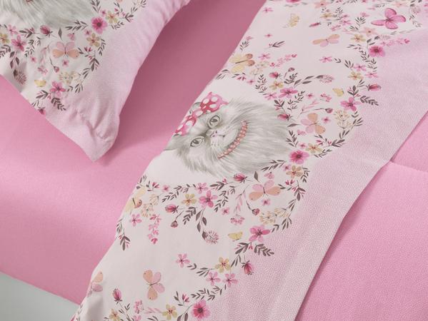 Cobre leito solteiro/solteirão Missi gatinha 100% algodão  karsten