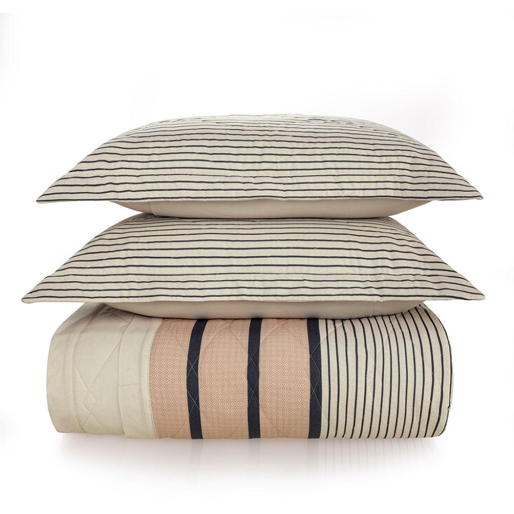 Colcha Cobre Leito Casal 100% algodão 180 fios | Karsten - Lenine