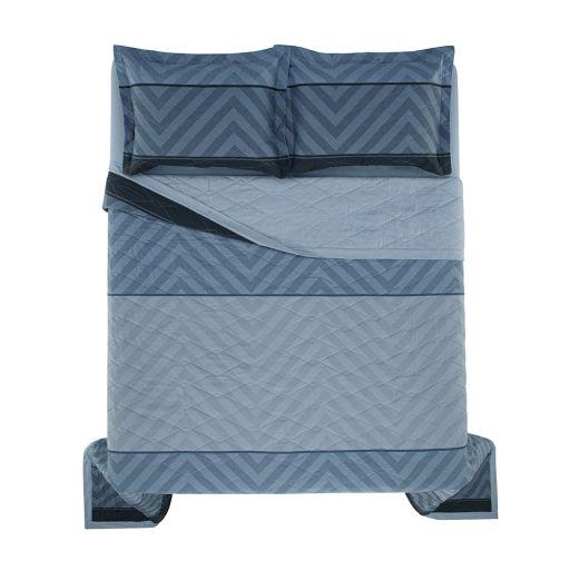 Colcha Cobre Leito King Oslo + 2 Portas Travesseiros 100% Algodão Karsten