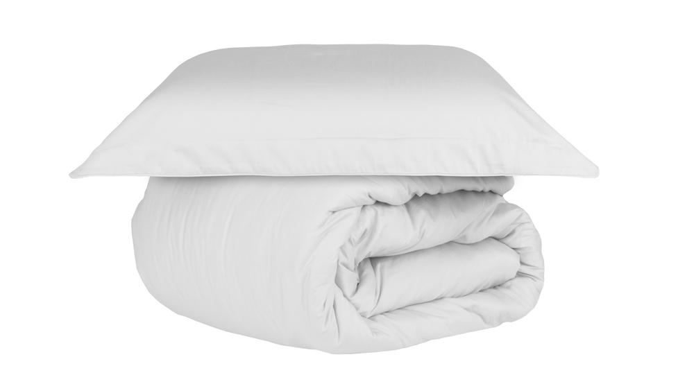 Duvet capa de edredom queen branco Cetim 300 fios - Naturalle