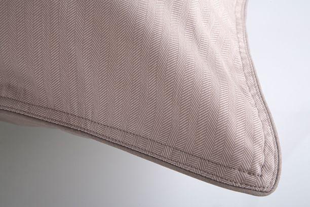 Fronha Algodão Egípcio 300 fios 59St Bege - By The Bed - Design Industrial