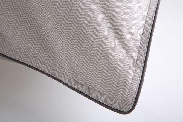 Fronha Algodão Egípcio 300 fios Cinza 59St - By The Bed - Design Industrial
