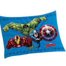 Fronha Avengers Algodão 50x70cm - Lepper