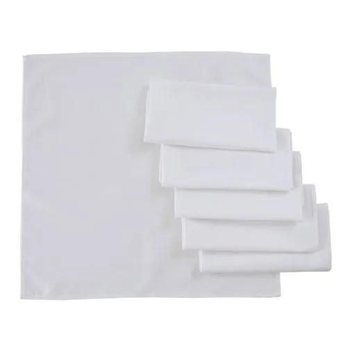 Guardanapo de Tecido 6 Peças - Branco - Gourmet - Karsten