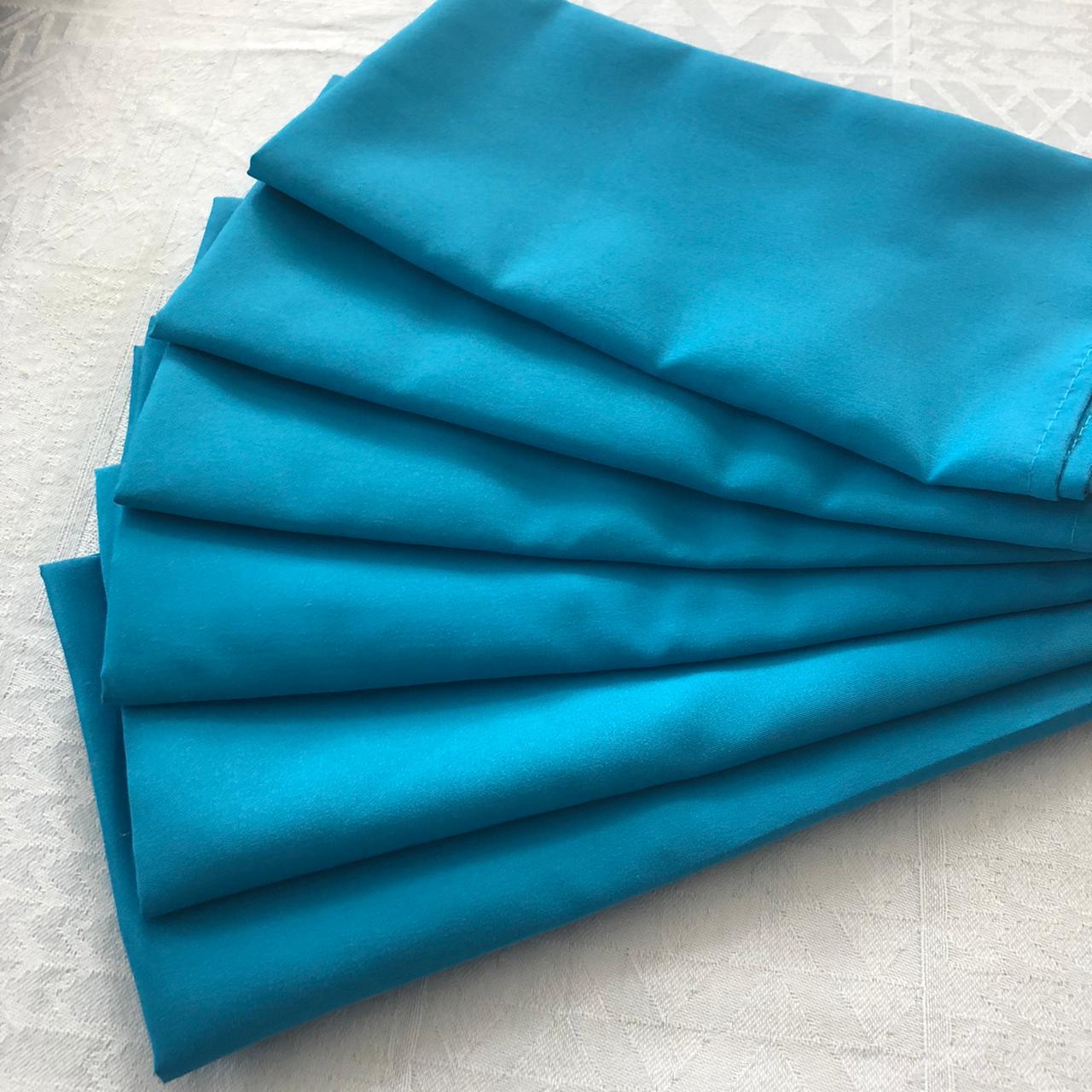 Guardanapo de tecido 6 peças Turquesa MicroOxford Paloma Home
