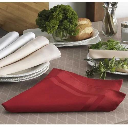 Guardanapo de tecido 6 peças - vermelho - gourmet - karsten