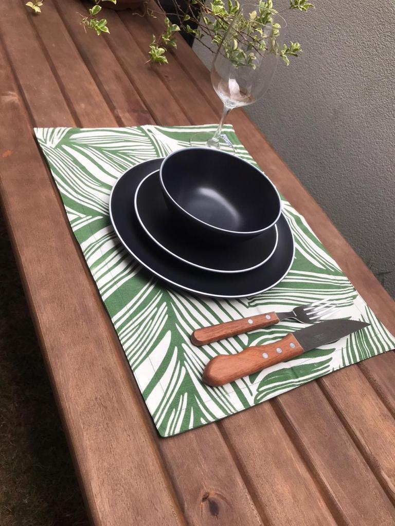 Jogo americano 4 peças Folhagem Verde 50x35 - Paloma Home