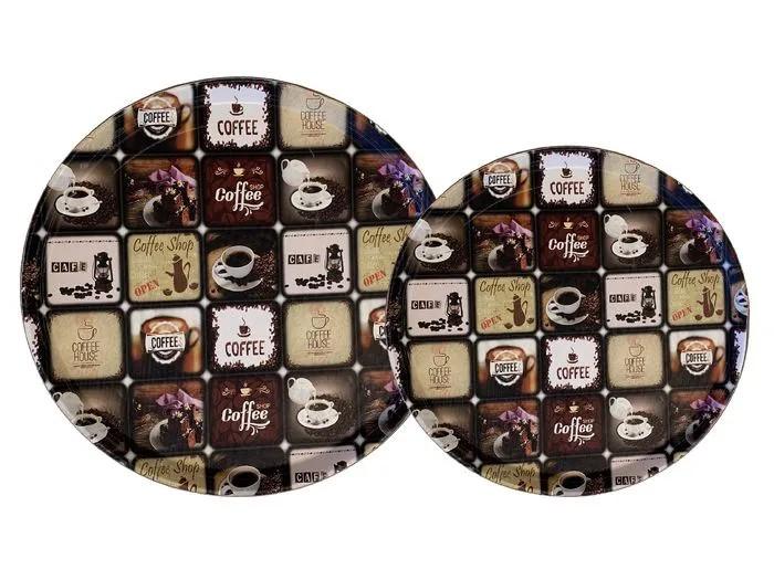 Jogo de bandejas cantinho do café - 35 e 40cm - paloma home