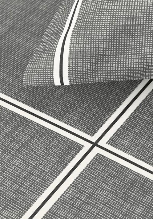 Jogo de cama Casal 100% algodão 3 peças Rael Cinza Karsten
