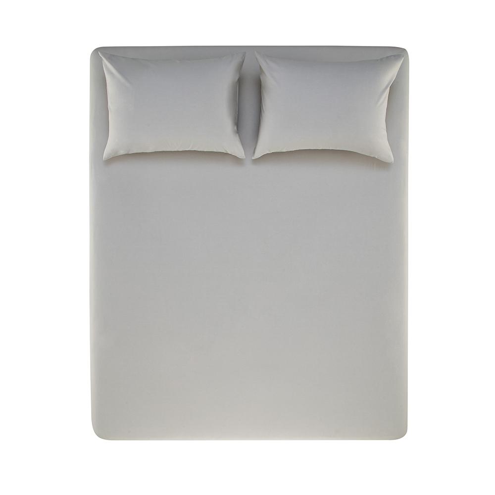 Jogo de cama Casal 100% algodão 3 peças Cinza Nuance Karsten